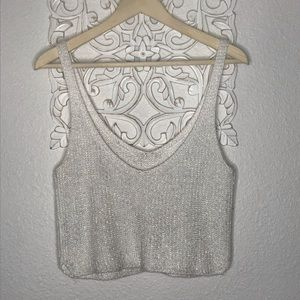 American apparel knit sparkly knit crop top